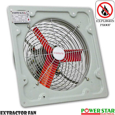 Commercial Ventilation Extractor Fan Metal Axial Exhaust Air Blower 12 16 20inch