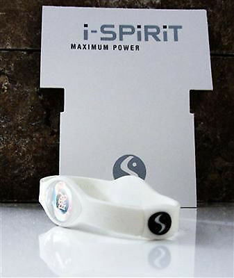 i-spirit Hologramme Bracelet Silicone Frequence: Amour/Bonheur Blanc,Taille :L