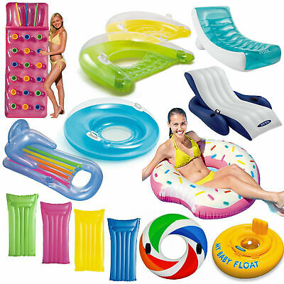 Inflatable Pocket Fashion Designer Lounger Lilo Float Tube Rings Recliner Chair