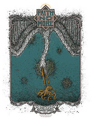 FAITH NO MORE Bucharest 2009 poster by Marq Spusta