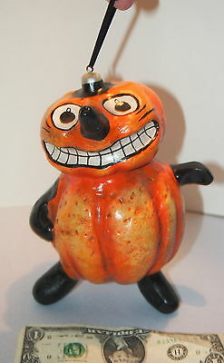 2003 SILVER WILLOW HALLOWEEN Mache Anthropomorphic Gourd Figure LARGE ORNAMENT