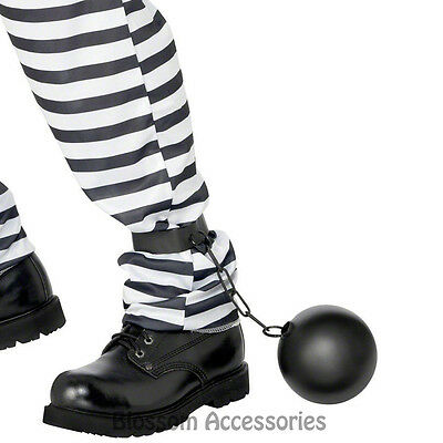A512 Prisoner Ball and Chain Convict Police  Bucks Night Stag Wedding Costume