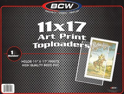 9 BCW 11X17 Art Print Toploader  Top Load Holder Poster Menu Photo Frame
