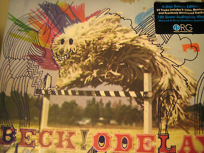 BECK ODELAY LIMITED 10th ANNIVERSARY NUMBERED 4 LP SET 32 TRACKS B-SIDES REMIXES