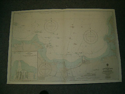 Vintage Admiralty Chart 933 JAVA - APPROACHES TO DJAKARTA 1956 edn