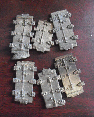 Lot of 6 Vintage HO OO Scale Boxcar Metal Door Parts
