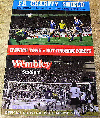 1978 FA CHARITY SHIELD - IPSWICH TOWN v NOTTINGHAM FOREST