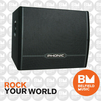 """Phonic iSK 18SB 18"""" 2000w Passive DJ Stage Subwoofer Sub Cab Carpeted Cabinet"""