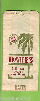 #d87.  Old One Pound Dates Paper Bag