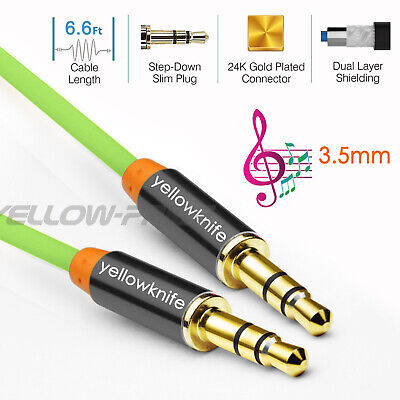 Yellowknife 3.5mm Stereo Jack to Jack Audio Cable Gold Stereo Aux Cable - 3FT