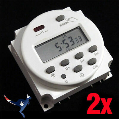 2x DC 12V 16A Mini LCD Power Weekly Programmable Timer   CN101A