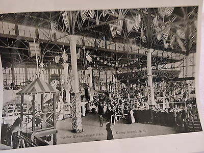 OLD CONEY ISLAND, BROOKLYN NYC 8x10 Reprint Photo Interior Steepiechase Park