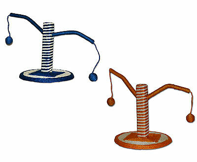 World of Pets Cat Scratcher & Play Post with Sisal Rope & Balls for Cat & Kitten