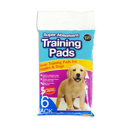 6 Pack Super Absorbent Premium Puppy Dog Training Pads 40x50cm by World of Pets