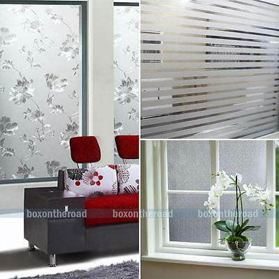 1.5/2m Frosted Privacy Window Film Static Cling Home Office Glass Removable Film