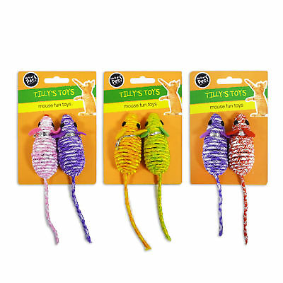 """Tilly's Toys"" Mouse Fun Toy Rattle for Cat & Kitten by World of Pets"