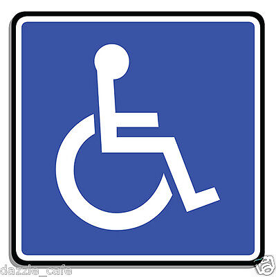 """Handicap Disabled Parking Only 2 PACK STICKERS Person in Wheelchair 4.5""""  316"""