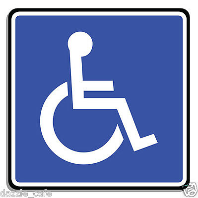 "Handicap / Disabled Parking Only 6"" 2-PACK STICKERS Person in Wheelchair 316"
