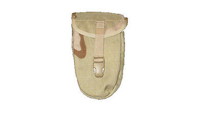 US ARMY MILITARY MOLLE DESERT CAMO DCU ENTRENCHING E-TOOL CASE DUMP POUCH VG-XC