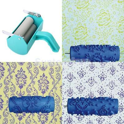 Reusable DIY Wall Decoration Painting Machine + 3 Flower Pattern Roller Brushe