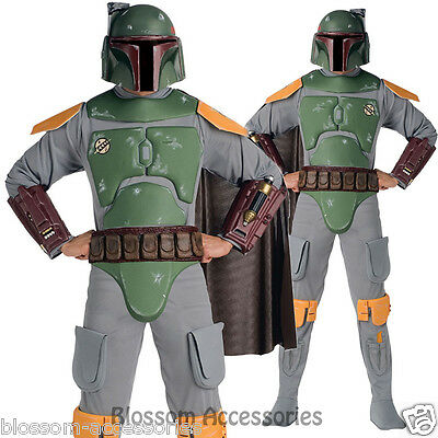 CL305 Star Wars Boba Fett Party Fancy Dress Mens Deluxe Costume Outfit + Helmet