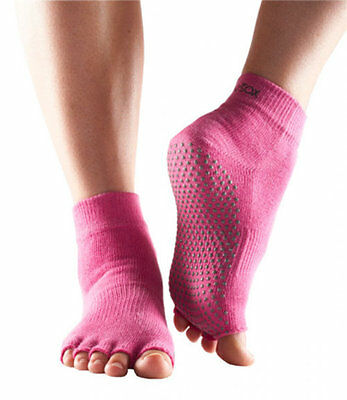 034734 SPORTS DEAL Fitness Mad ToeSox Without Toe - Grip - Ankle - Pink