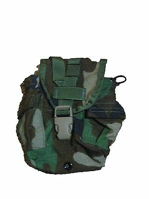 US Military Army Surplus MOLLE Woodland Camo 1qt Canteen Utility GP Pouch TB XCN