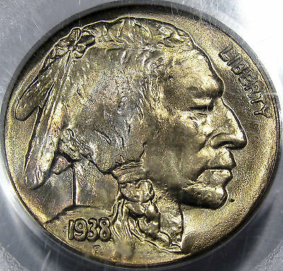 1938-D Buffalo Nickel Superb Gem BU PCGS/CAC MS-65...Gold CAC! Undergraded Coin!