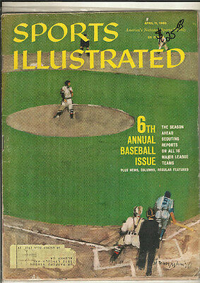 April 11, 1960 Sports Illustrated 6th Annual Baseball Issue