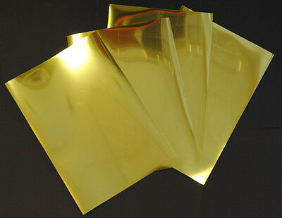 Gold Metallic Glossy Inkjet Printable Adhesive Film 5 A4 Sheets 100 Micron
