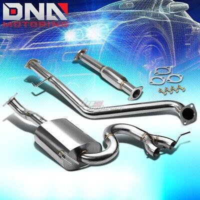 J2 Engineering Dual Tip Stainless Performance Catback Exhaust For Veloster Na