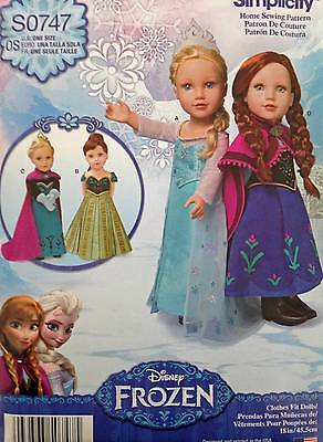 New Pattern 1217 Doll Clothes Frozen Gowns fit 18 inch American Girl