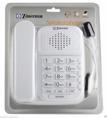 Emerson EM2246HS Speakerphone with headset, Desk or Wall Mountable, White