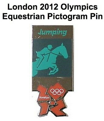Equestrian Jumping Olympic Pin Badge~2012~Pictogram~New~Mounted on Card & Sealed