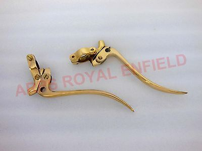 "Universal Vintage Bikes Solid Brass Brake And Clutch Levers 7/8"" Auto Edh"