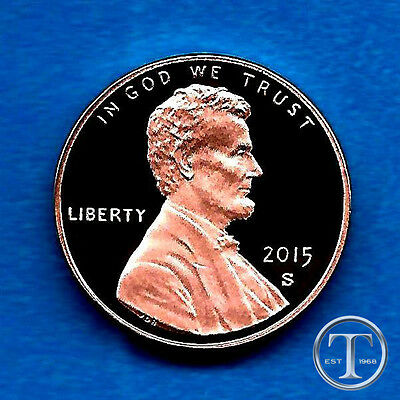 2015 Proof Lincoln Cent- Gem Proof Deep Cameo-In Stock
