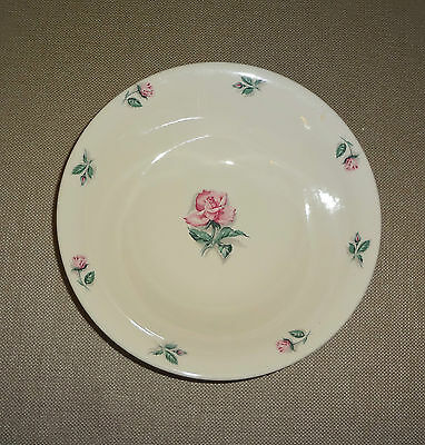 Knowles China Dinnerware Pink Rose & Leaf Pattern Serving Bowl  U.S.A. 51-3
