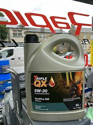 Triple QX SynPlus 5w30 Fully Synthetic Car Engine Oil 5L - GM Spec (5 Litre)