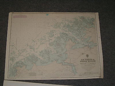 Vintage Admiralty Chart 1432 N. FRANCE - ILE VIERGE to POINTE SCOUNE 1979 edn