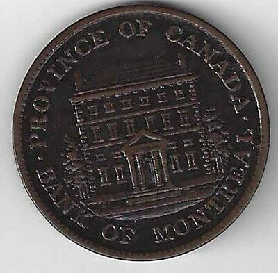 1842 Lower Canada Bank of Montreal 1/2 Penny Token KM# Tn18