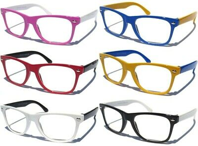 SMALL KIDS SIZE RETRO FRAME CLEAR LENS GLASSES NERD Classic Design Boys Girls