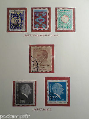 TURQUIE, LOT timbres THEMES CELEBRITES, SERVICES, oblitérés, VF used  STAMPS