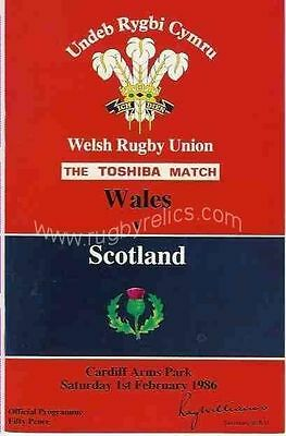 WALES v SCOTLAND  1986 RUGBY MEMORABILIA COLLECTION PROGRAMME DVD & TICKET