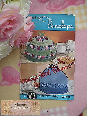Vintage 40s Knitting Pattern Tea Cosy 2 Traditional Styles Only