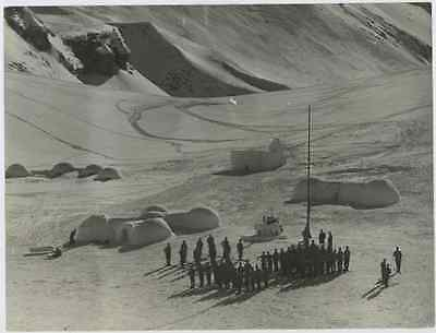 Military Base and igloos Vintage silver print Tirage argentique  18x24  Ci