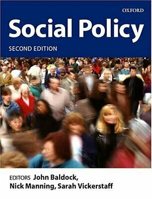 Social Policy Paperback Book The Cheap Fast Free Post