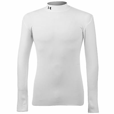 030766 SPORTS SALE Under Armour Junior Mock Neck Baselayer - White Small WAS £28