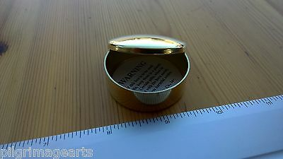 Ted Cash  Solid Brass Cap Box or pill box etc Plain Top Domed