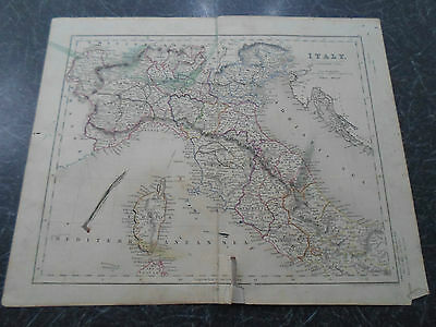 Antique Map ~ ITALY NORTHERN - From The College Atlas For Schools+Families 1860