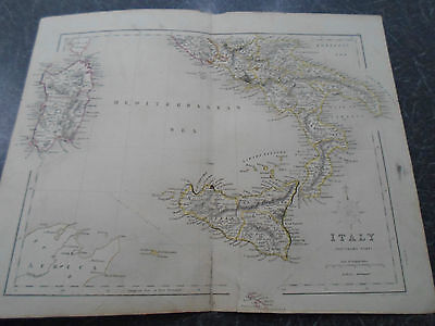 Antique Map ~ ITALY - From The College Atlas For Schools+Families 1860